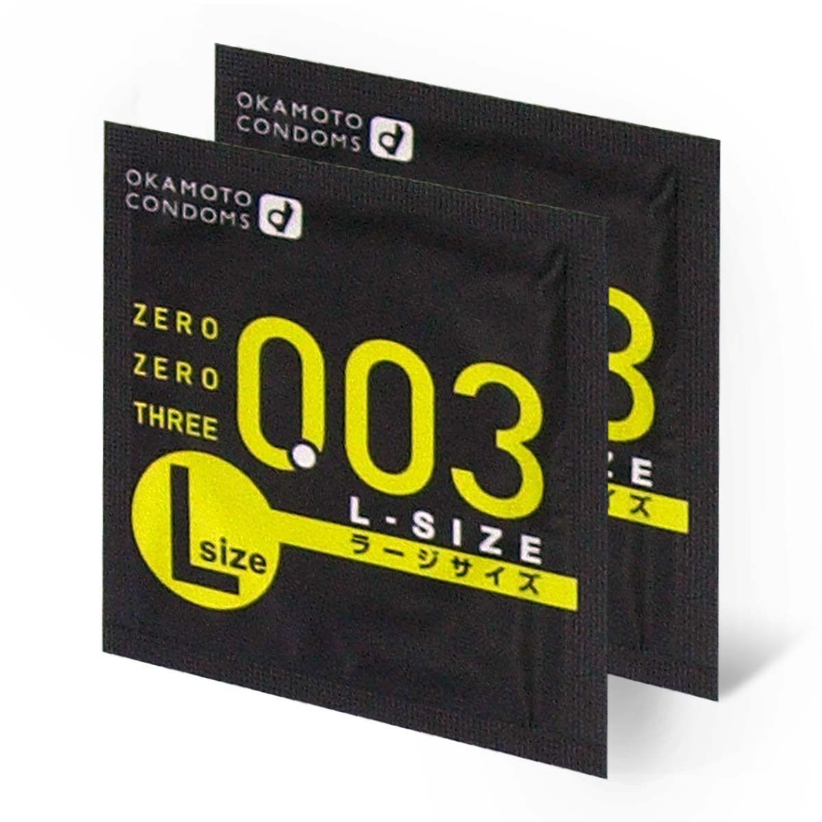 Zero Zero Three 0.03 L-size (Japan Edition) 58mm 2 pieces Latex Condom