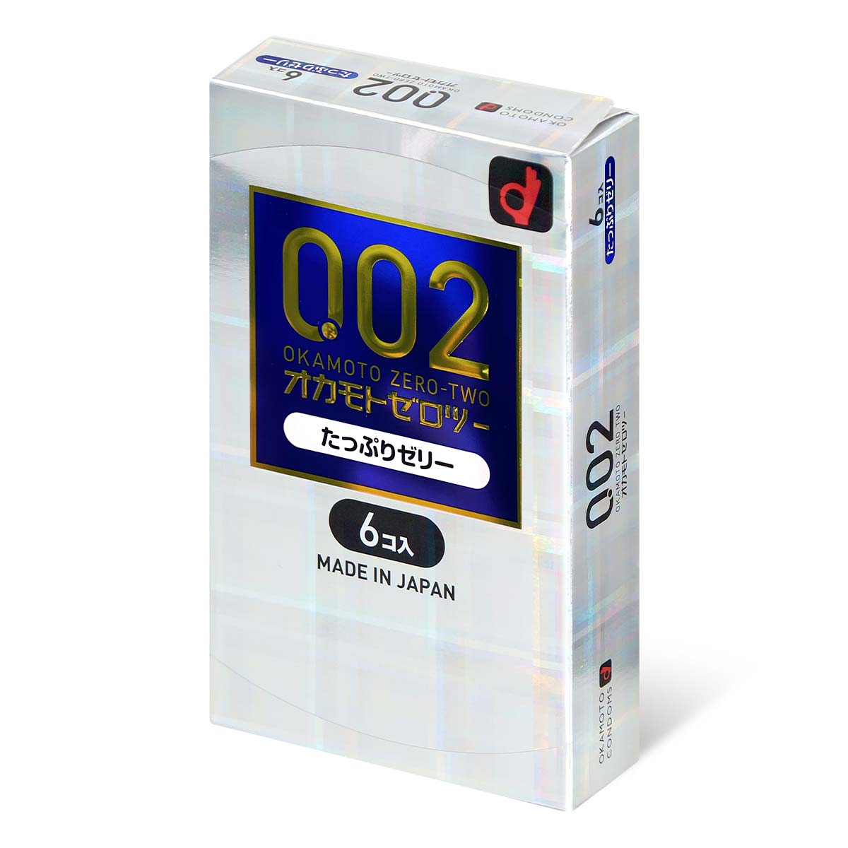 Okamoto Unified Thinness 0.02 Plenty of Jelly (Japan Edition) 6's Pack PU Condom