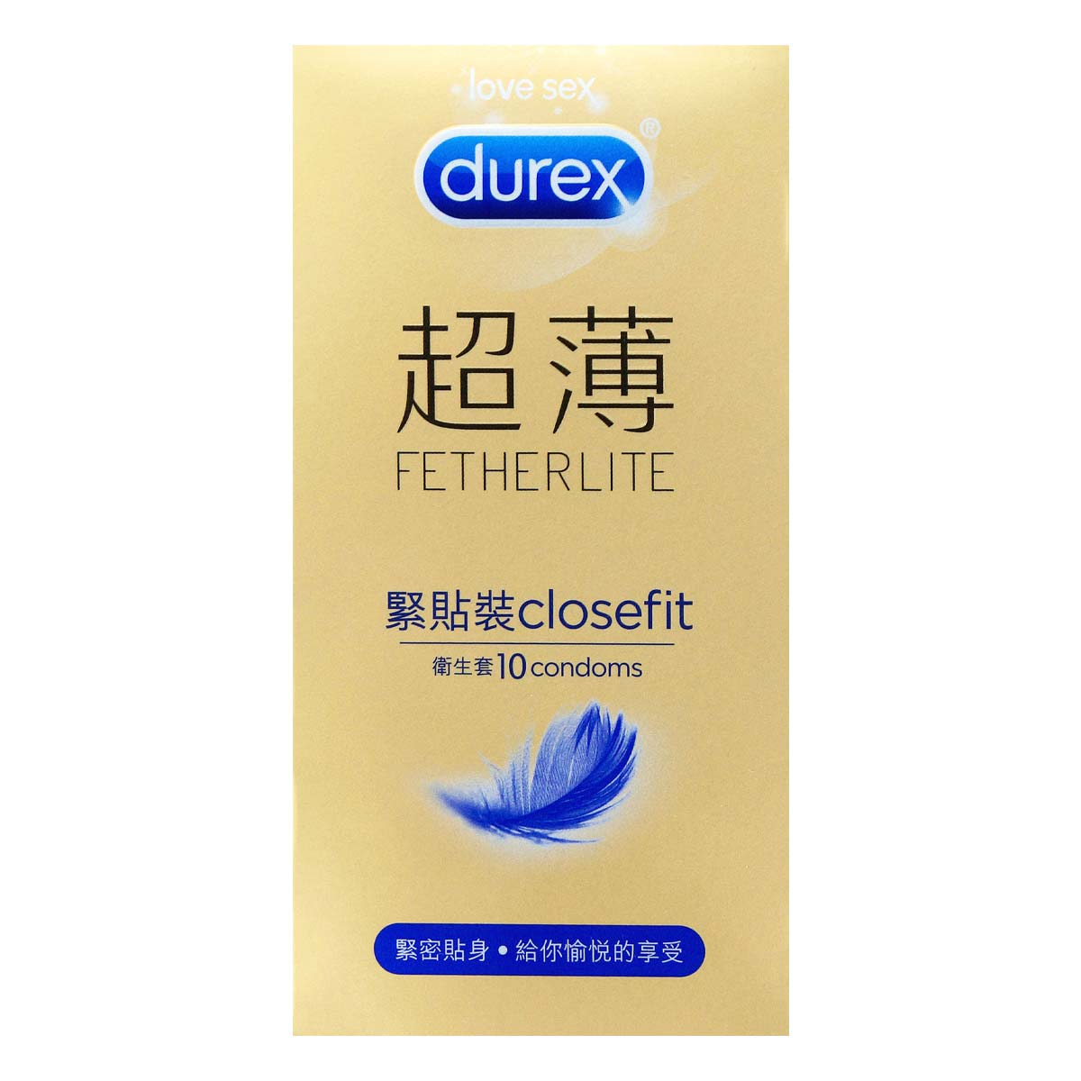 Durex Fetherlite CloseFit 10's Pack Latex Condom