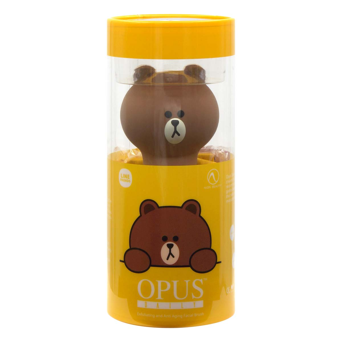 Line Friends Opus Daily Exfoliating and Anti Aging Facial Brush (Brown)